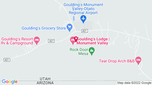 Goulding's Lodge Map