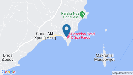 Poseidon of Paros Map