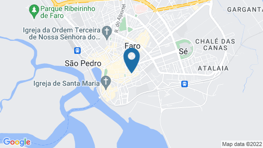 Faro Central - Holiday Apartments Map
