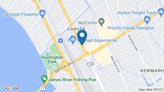 Super 8 by Wyndham Newport News/Jefferson Ave. Map