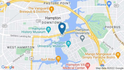 Hampton Marina Hotel Map