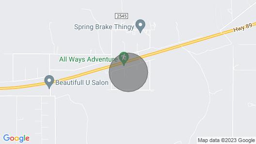 Cosmic Casita Near Zion, Bryce, Best Friends, Lake Powell Map