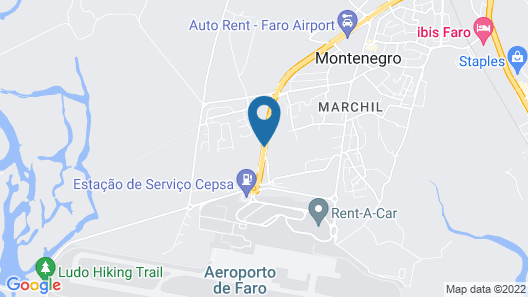 Hotel 3K Faro Aeroporto Map