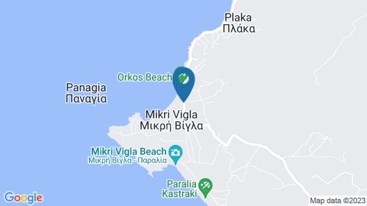 Orkos Beach Map