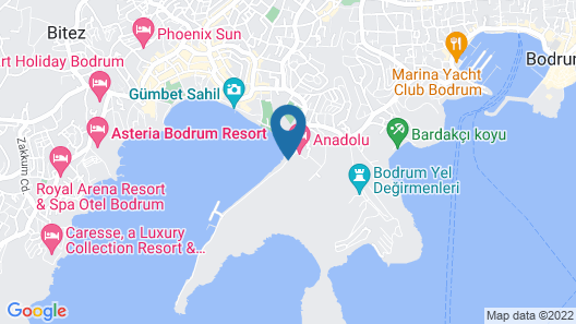 Jasmin Beach Hotel - All Inclusive Map