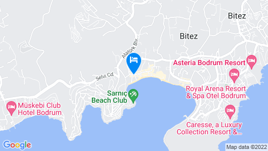 Costa Bitezhan Hotel Map