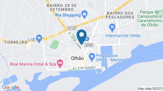 Hotel Cidade de Olhão Map