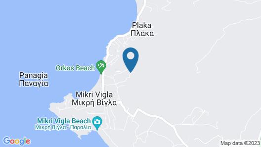 Naxos Luxury Villas Map