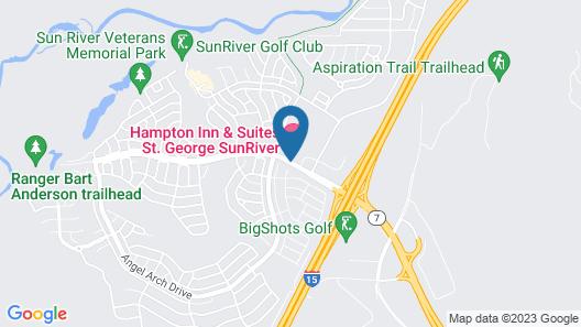 Hampton Inn & Suites St. George, UT Map