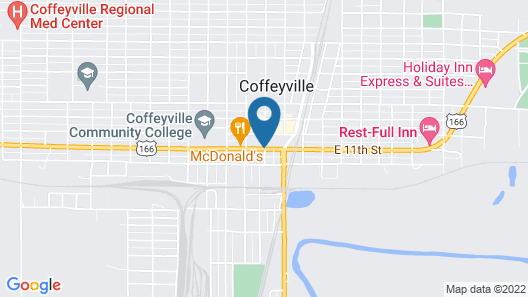 Best Western Coffeyville Central Business District Inn and Suites Map