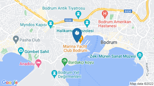 Marina Hotel Bodrum Map
