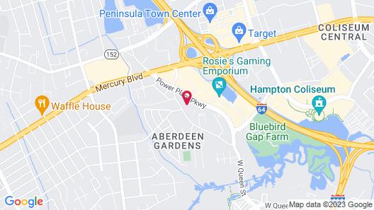 Hilton Garden Inn Hampton Coliseum Central Map
