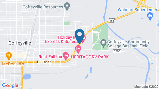 Holiday Inn Express & Suites Coffeyville, an IHG Hotel Map