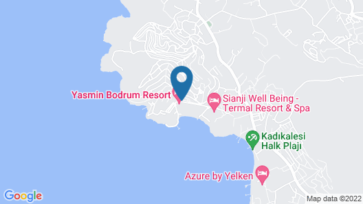 Yasmin Bodrum Resort - All Inclusive Map