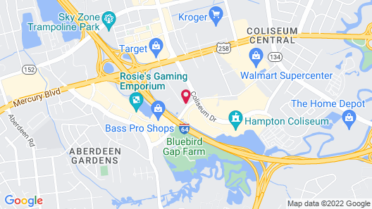 Extended Stay America Hampton - Coliseum Map
