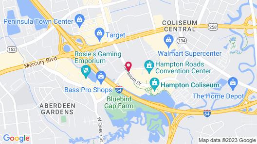 Embassy Suites by Hilton Hampton Convention Center Map