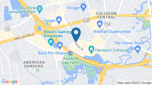 Embassy Suites by Hilton Hampton Convention Center Map