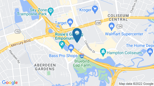 Extended Stay America Suites Hampton Coliseum Map