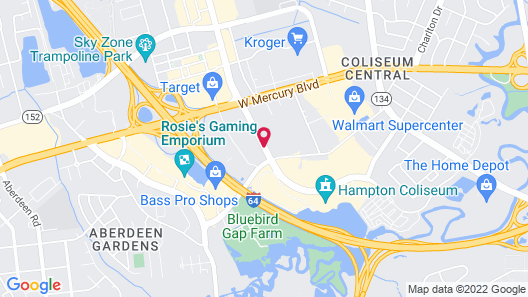 Hyatt Place Hampton Convention Center Map