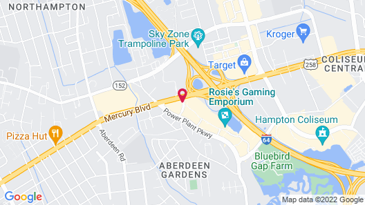 Springhill Suites by Marriott Hampton Coliseum Map