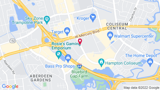 Red Roof Inn Hampton Coliseum & Convention Center Map