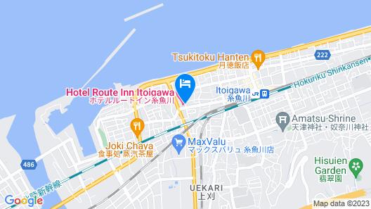 Hotel Route-Inn Itoigawa Map