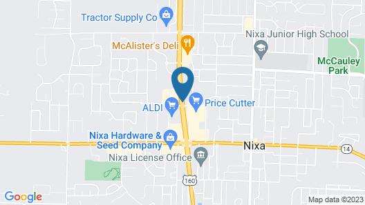Super 8 by Wyndham Nixa/Springfield Area Map