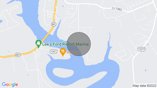 Million Dollar View! Beautiful, Large Lakehouse Over-looking Lee's Ford Marina Map