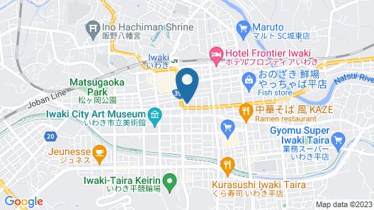HOTEL CROWN HILLS IWAKI Map