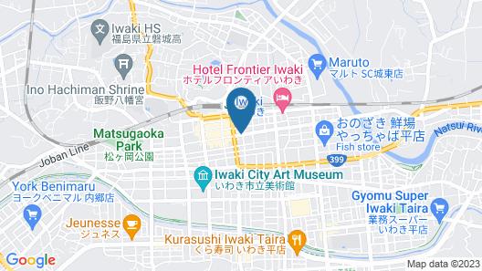 Hotel Route-Inn Iwaki Ekimae Map