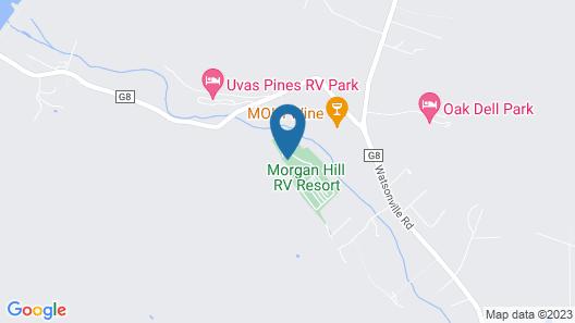 Morgan Hill RV Resort - Campsite Map