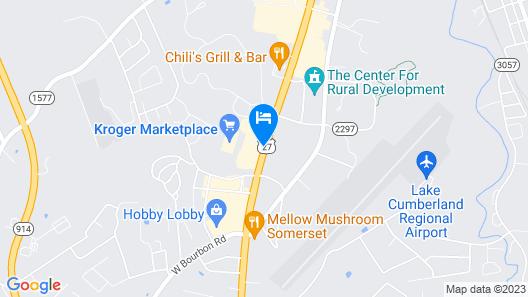 Hampton Inn Somerset Map