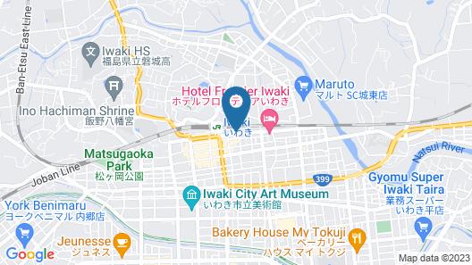 Hotel Sunshine Iwaki Map