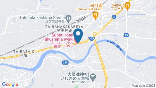 Super Hotel Fukushima Iwaki Map