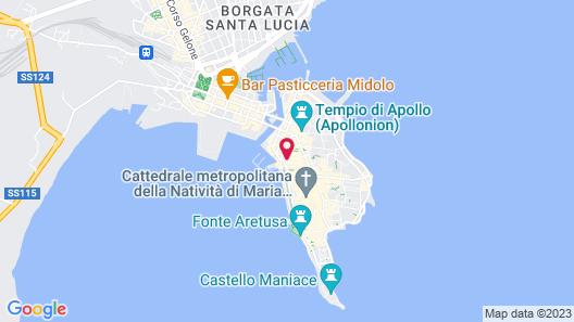 Appartamento Grand Hotel Ortigia Map