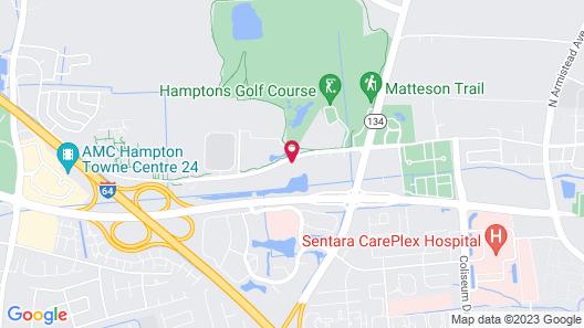 Sonesta Simply Suites Hampton Map