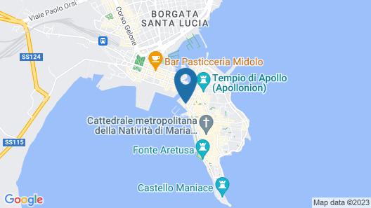 Grand Hotel Ortigia Siracusa Map