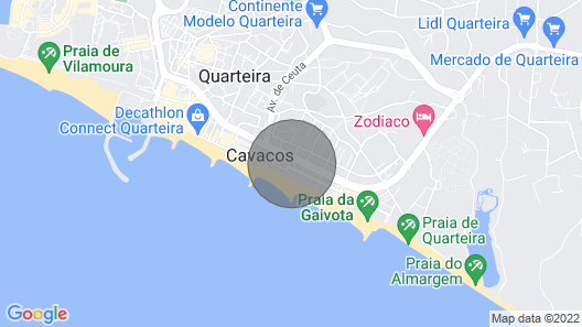 Quarteira Town Center, Seaside Apartment T2, sea View Map