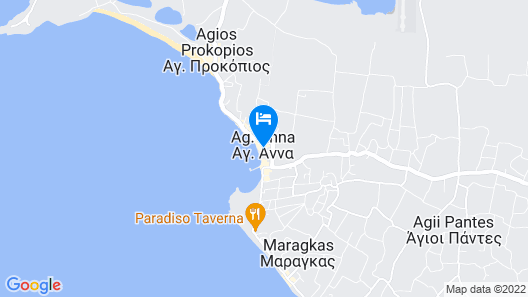 Iria Beach art hotel Map