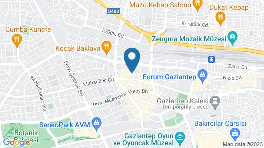 Gaziantep Plaza Hotel Map