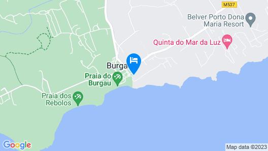 Hotel Praia do Burgau - Turismo de Natureza Map
