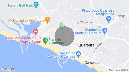 T3 Apartment in Quarteira, South Portugal 5 Mins Walk From the sea and Shops Map