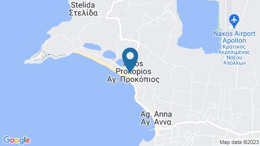 Naxos Island Hotel Map