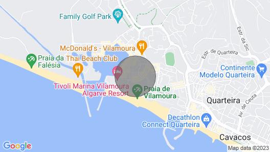 Fantastic T1 With Pool in Dom Pedro Portobelo de Vilamoura Map