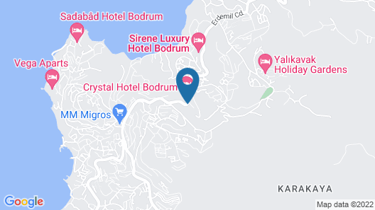 Crystal Hotel Bodrum - All Inclusive Map