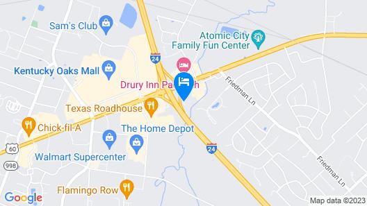 Auburn Place Hotel & Suites - Paducah Map