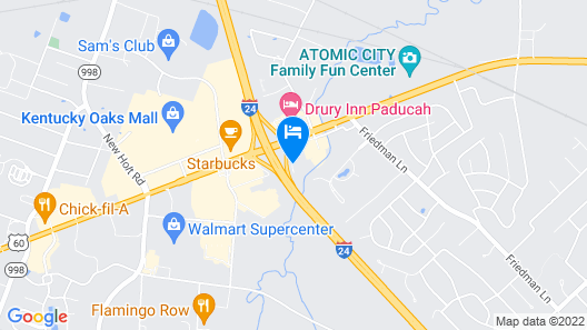 Holiday Inn Express Hotel & Suites Paducah West, an IHG Hotel Map