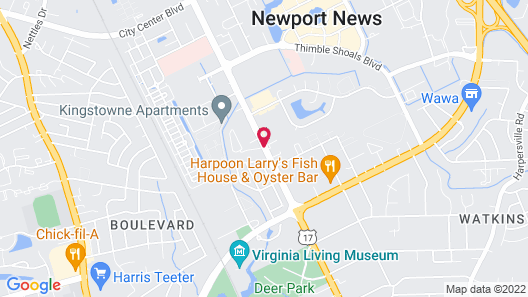 Extended Stay America - Newport News - Oyster Point Map