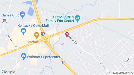 Courtyard by Marriott Paducah Map