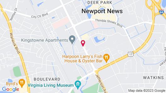 InTown Suites Newport News City Center Map